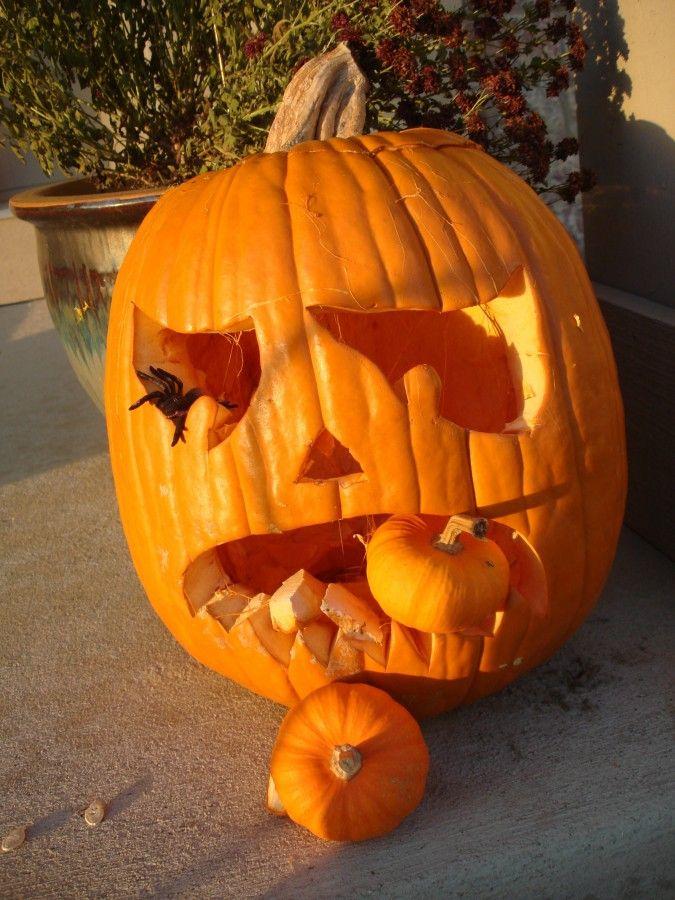 Porch and pumpkins