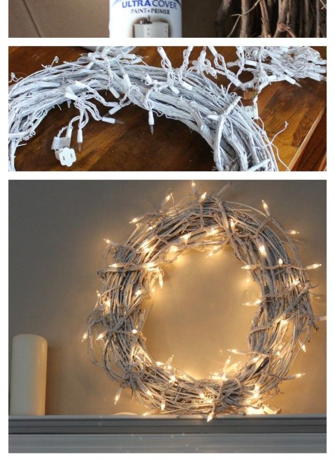 DIY White Christmas Wreath – $10.