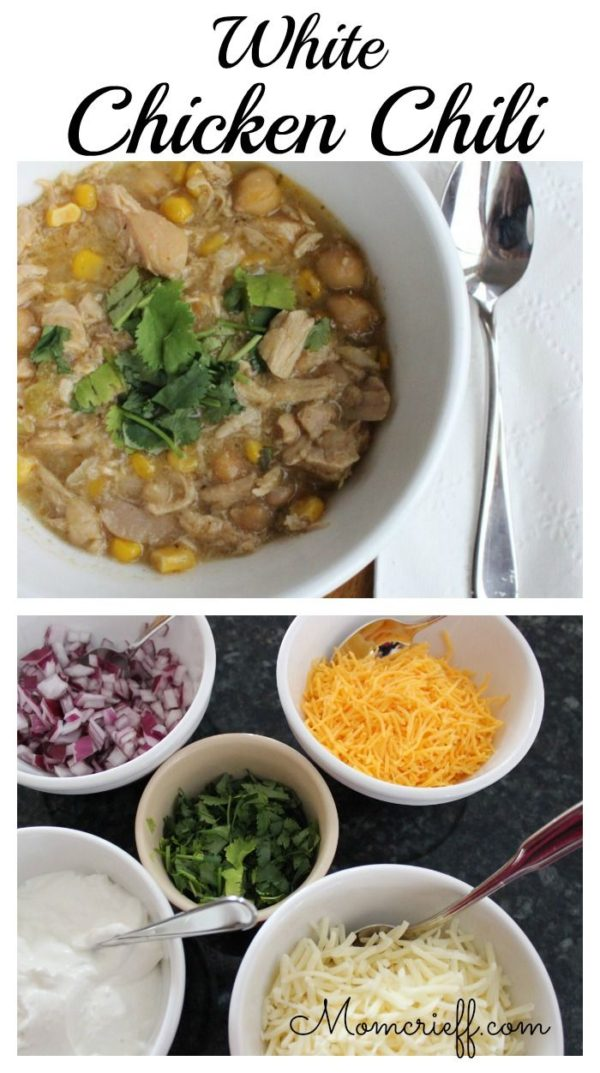 White Chicken Chili. A flavorful, hearty chili. Perfect as a meal!
