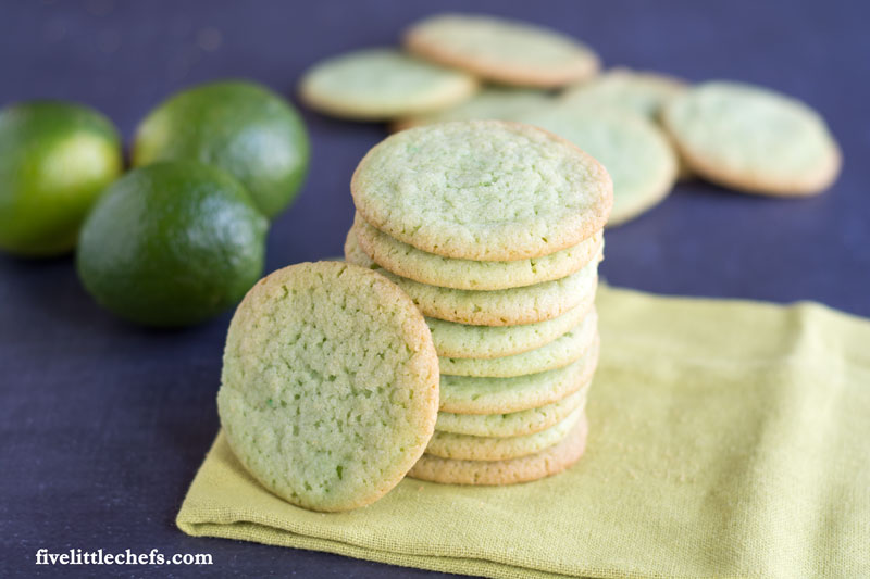 St. Patrick's Day Lime Sugar Cookies