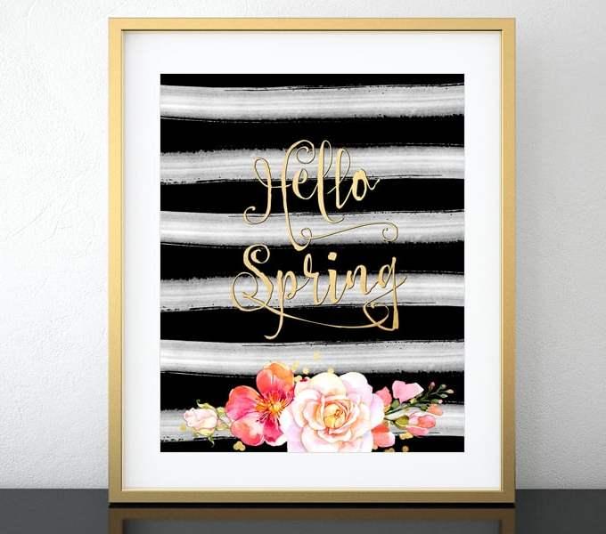 Hello Spring – free printable!