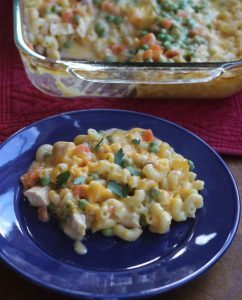 chicken, noodles and cheese casserole