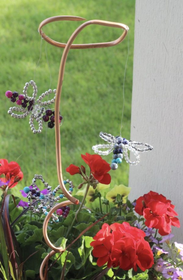 Dragonfly planter decoration