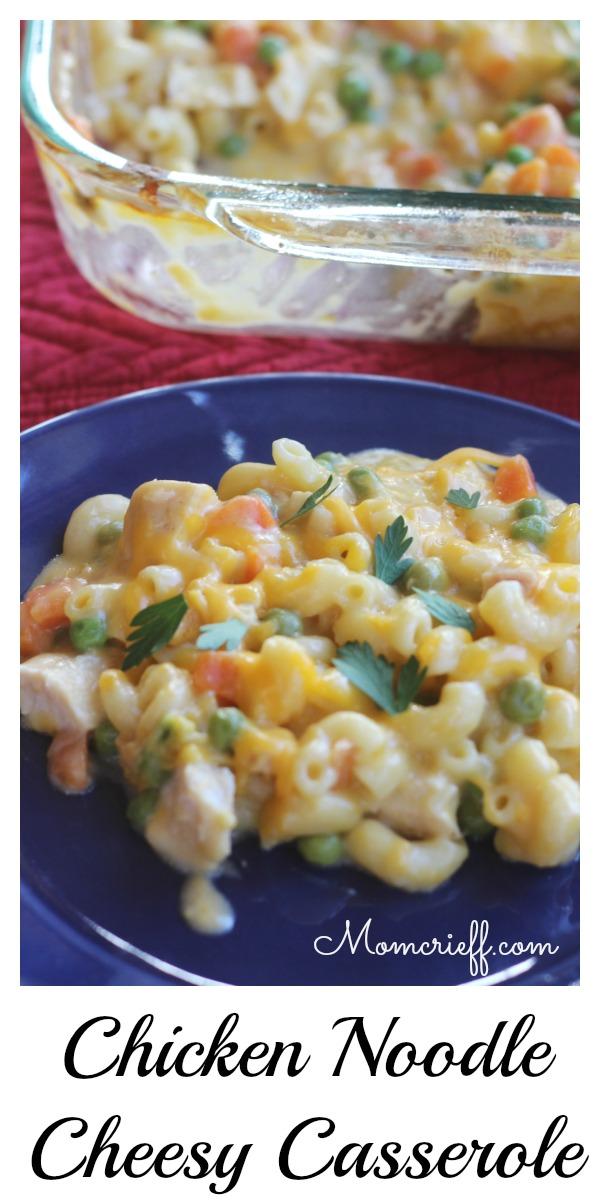 chicken noodle cheesy casserole