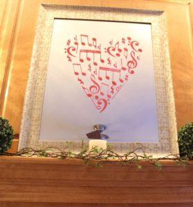 Valentines Stenciled Mirror