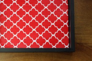 fabric interchangeable tray inserts