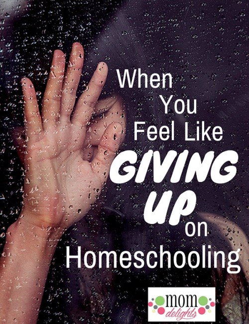 When You Feel Like Giving Up on Homeschooling