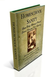 homeschool sanity book image