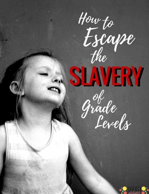 Escape the Slavery of Grade Levels {printable}