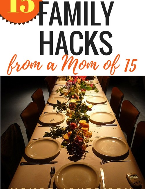 15 Family Hacks from a Mom of 15