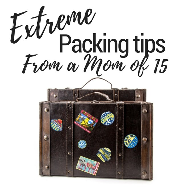 Extreme packing tips from a mom of 15