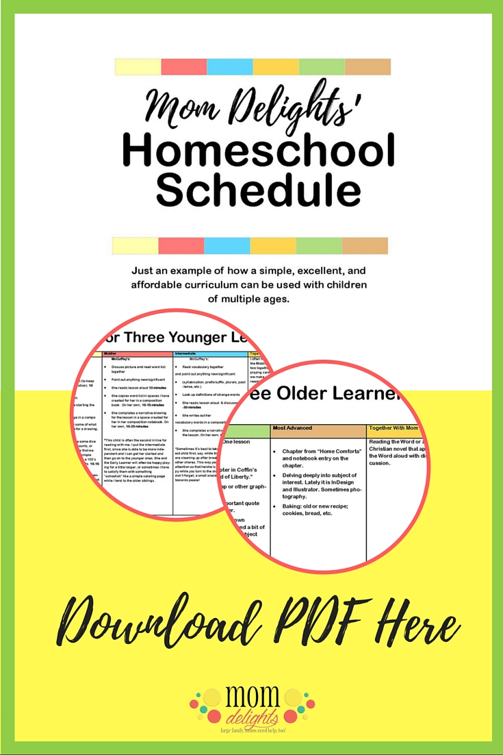 Mom Delights Detailed Homeschool Schedule