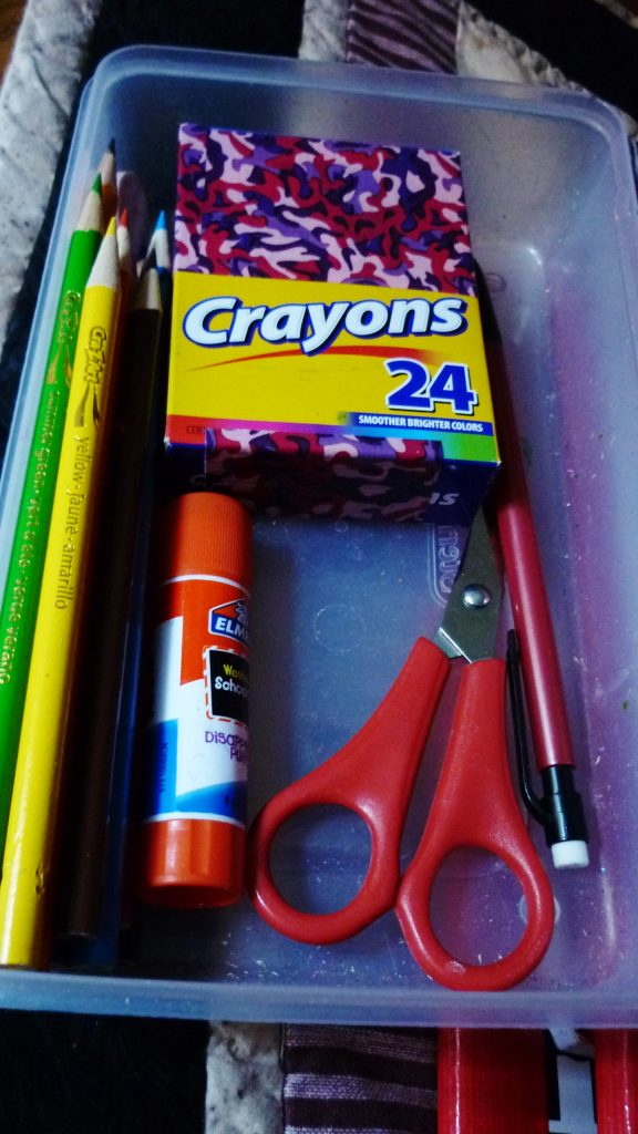 pencil box contents