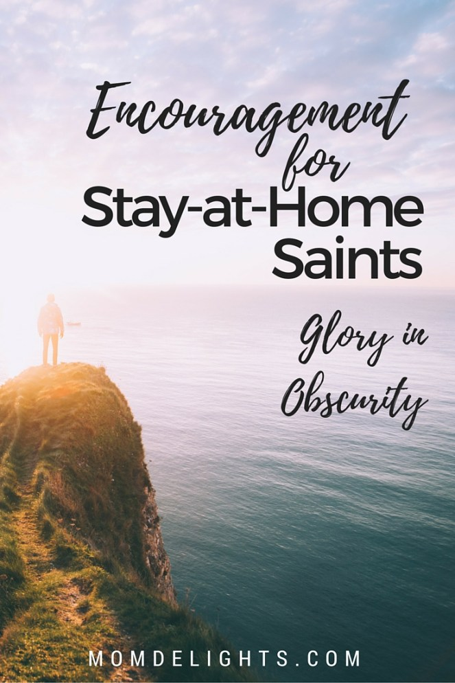 stay-at-home saints glory in obscurity