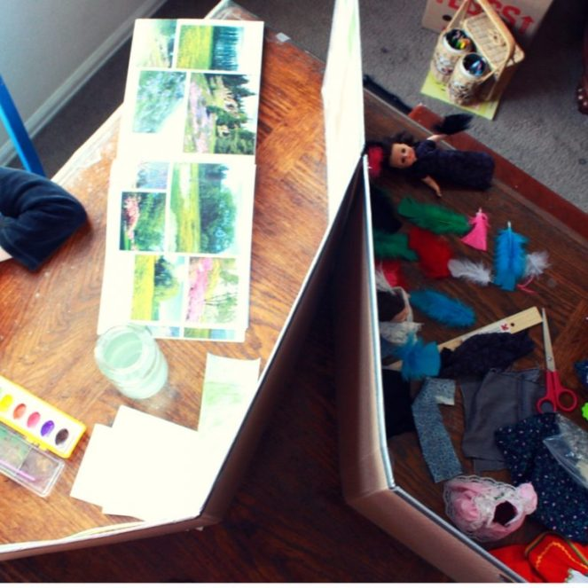 study carrels/mini offices used to keep children from distracting each other