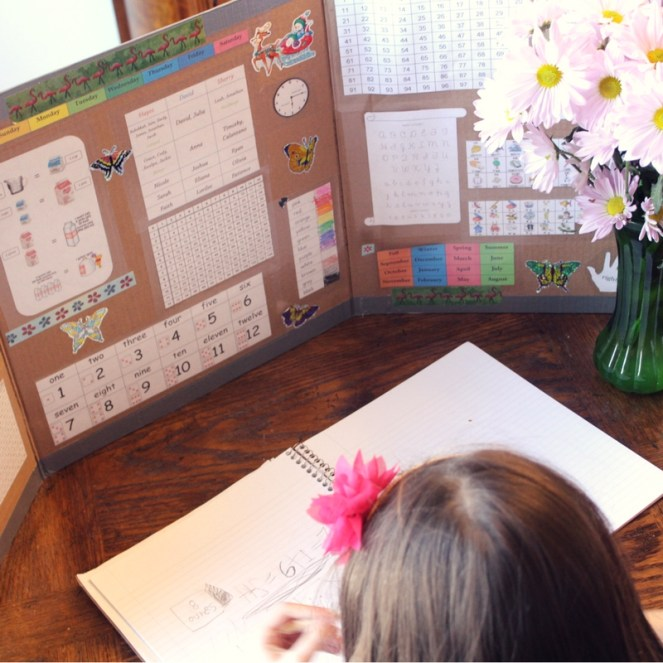 homeschool study carrel and mini office for young children