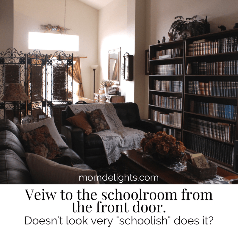 homeschool room, budget-friendly homeschool room, real learning homeschool room, home education, frugal homeschool room