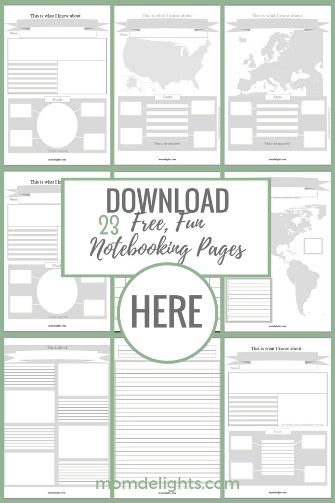 free, quality notebooking pages link
