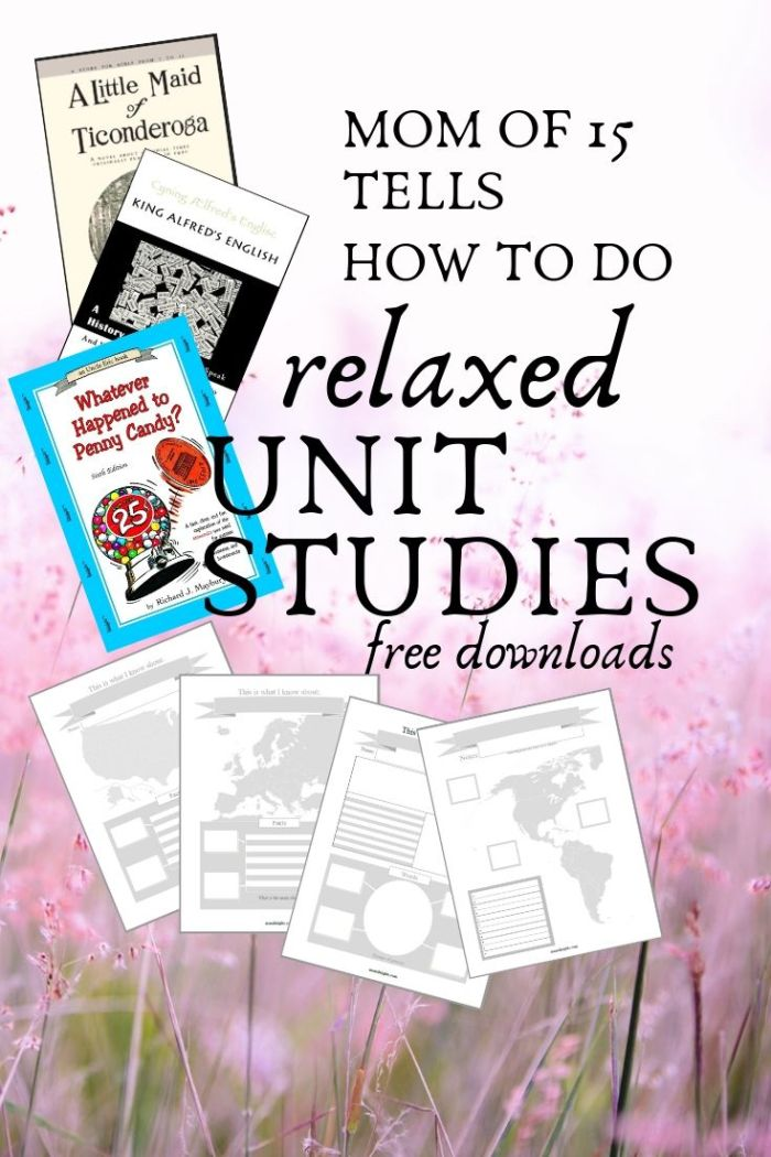 How to do relaxed unit studies