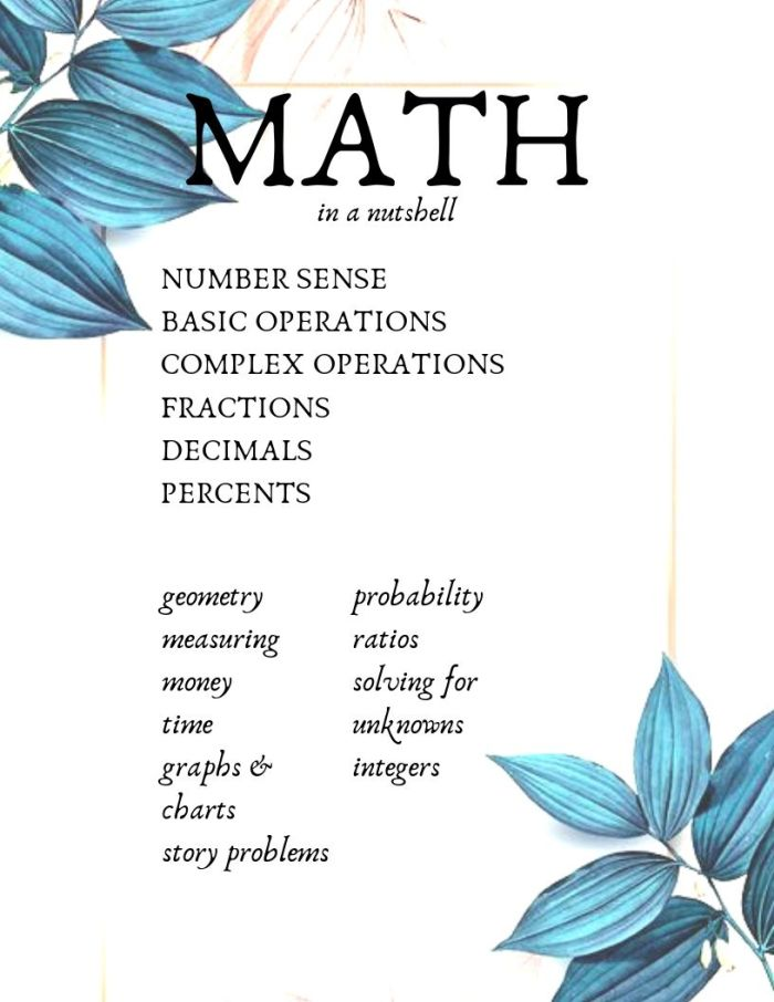 Math instruction outline printable