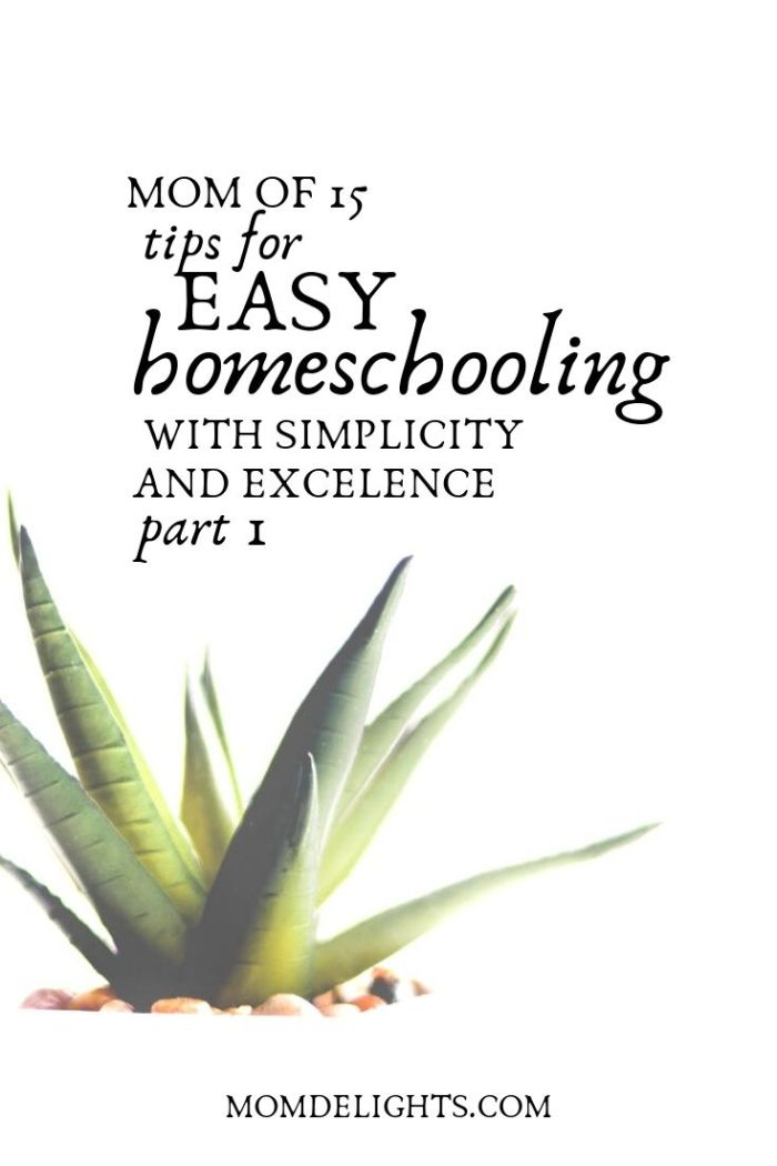 tips for easy homeschooling part 1