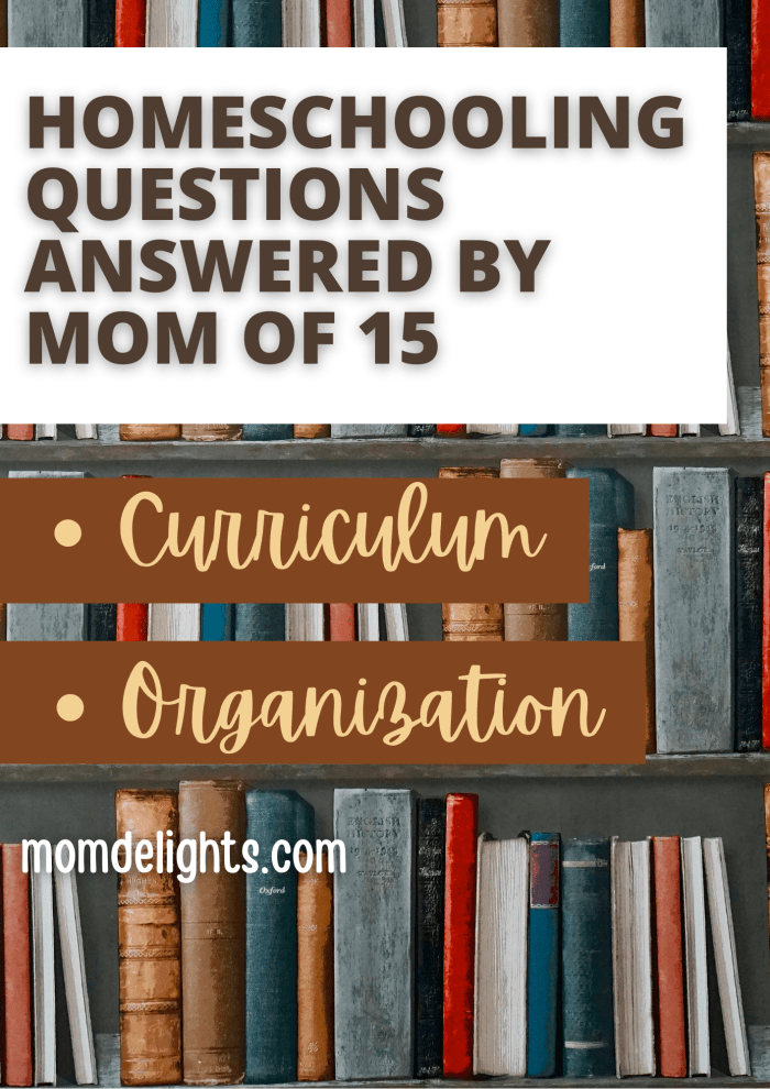 Homeschooling Questions Answered by Mom of 15