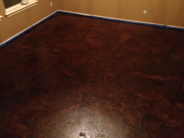 DIY PAPER BAG FLOORS THAT LOOK LIKE STAINED CONCRETE  momdepot