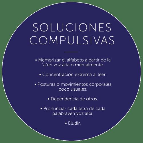 soluciones compulsivas, sintomas de la dislexia