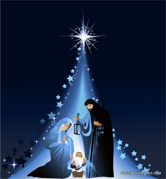 christmas manger scene with quotes