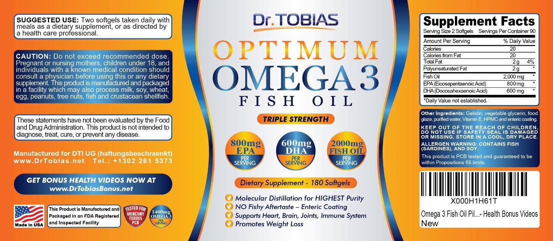 Dr Tobias Optimum Omega 3 Fish Oil Pills Amp Win An IWatch