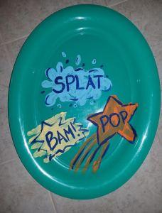plastic plate decorated
