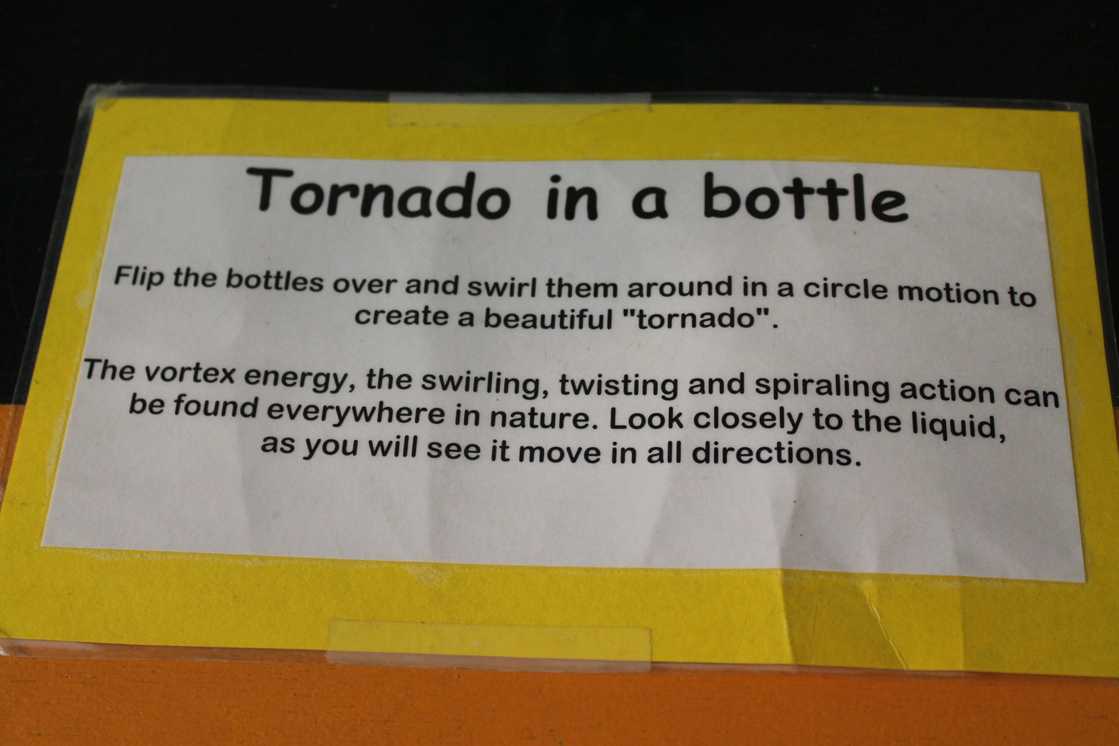 Tornado In A Bottle
