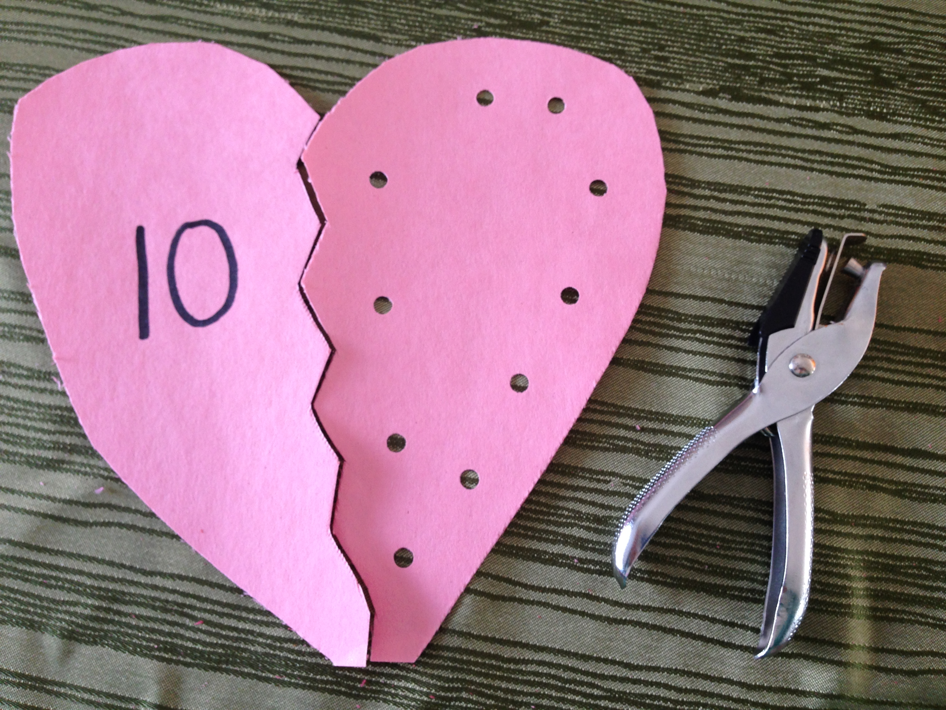 Numbers Amp Hearts Matching Activity