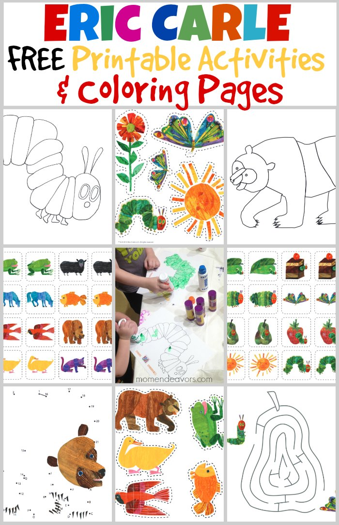 Eric Carle Coloring Pages : carle, coloring, pages, Bedtime, Playtime, World, Carle, Printable, Activities, Endeavors