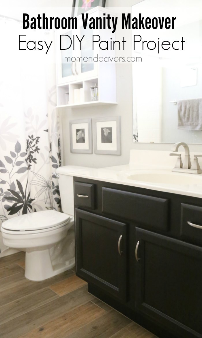 Painted Bathroom Cabinets Bathroom Vanity Makeover Easy Diy Home Paint Project