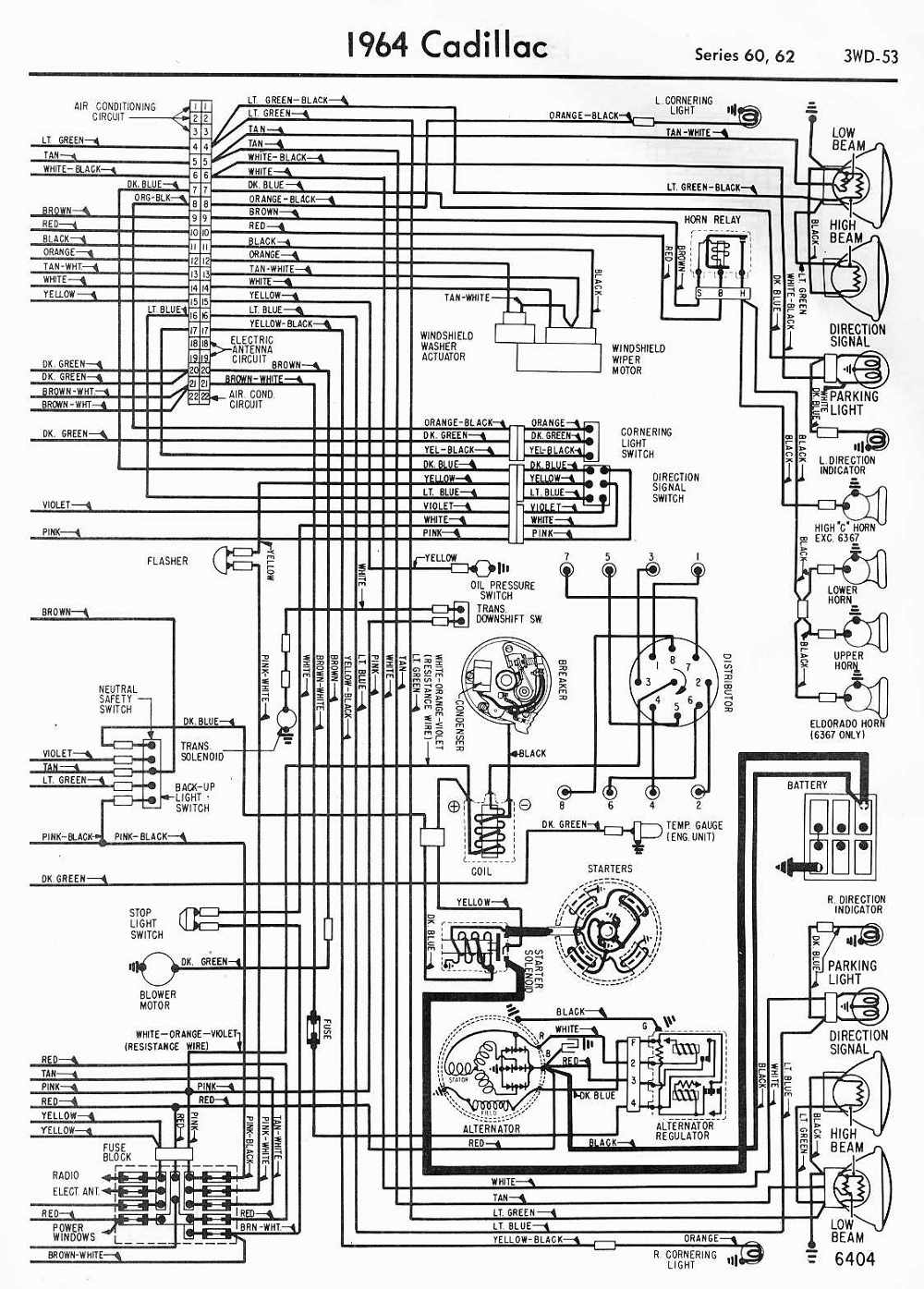 hight resolution of 64 cadillac wiring diagram example electrical wiring diagram u2022 rh olkha co 1999 cadillac deville radio