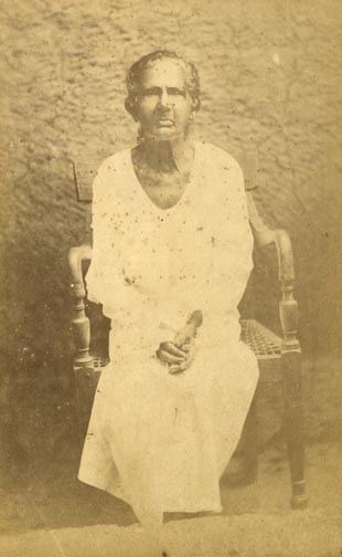 100 Years Old Sinhalese Woman Front View