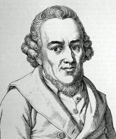 Portrait of Moses Mendelssohn.