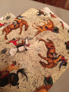 Perfect Table Cloth for a Cowgirl!