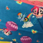 Rainbow Dash, Pinkie Pie, and Rarity fabric