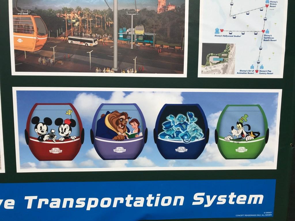 Disney Skyline Gondola Characters