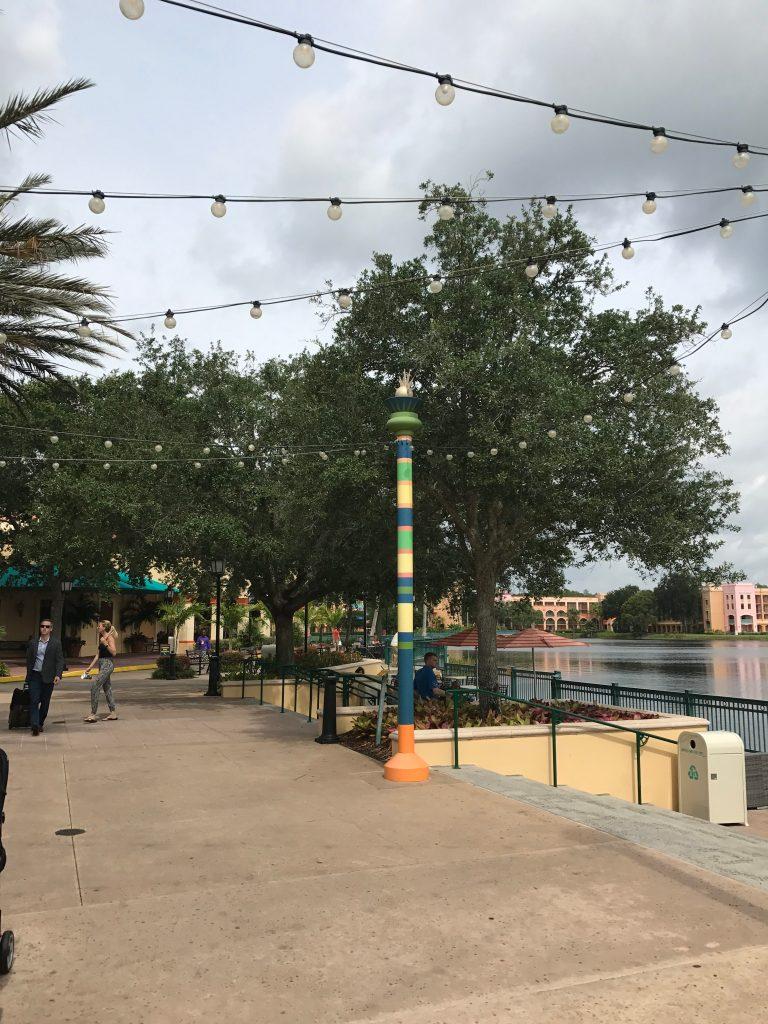 Walkway around Lago Dorado at Disney's Coronado Springs Resort