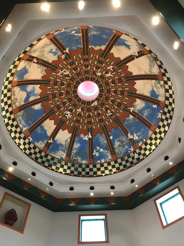 Ceiling above Fountain at Disney's Coronado Springs Resort