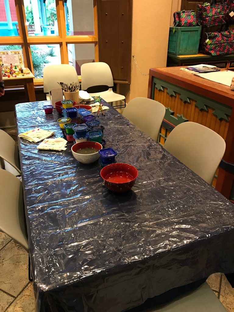 Paint Your Own Oaxaca Wood Carving Table