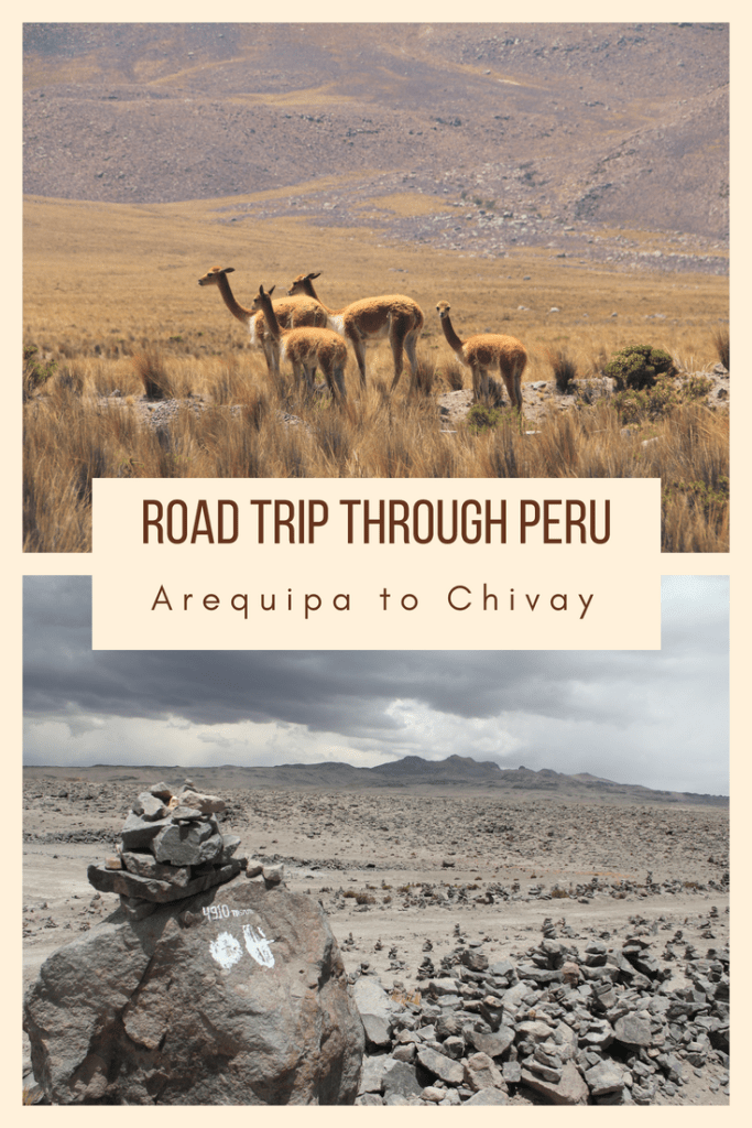 Arequipa to Chivay Road Trip Pin