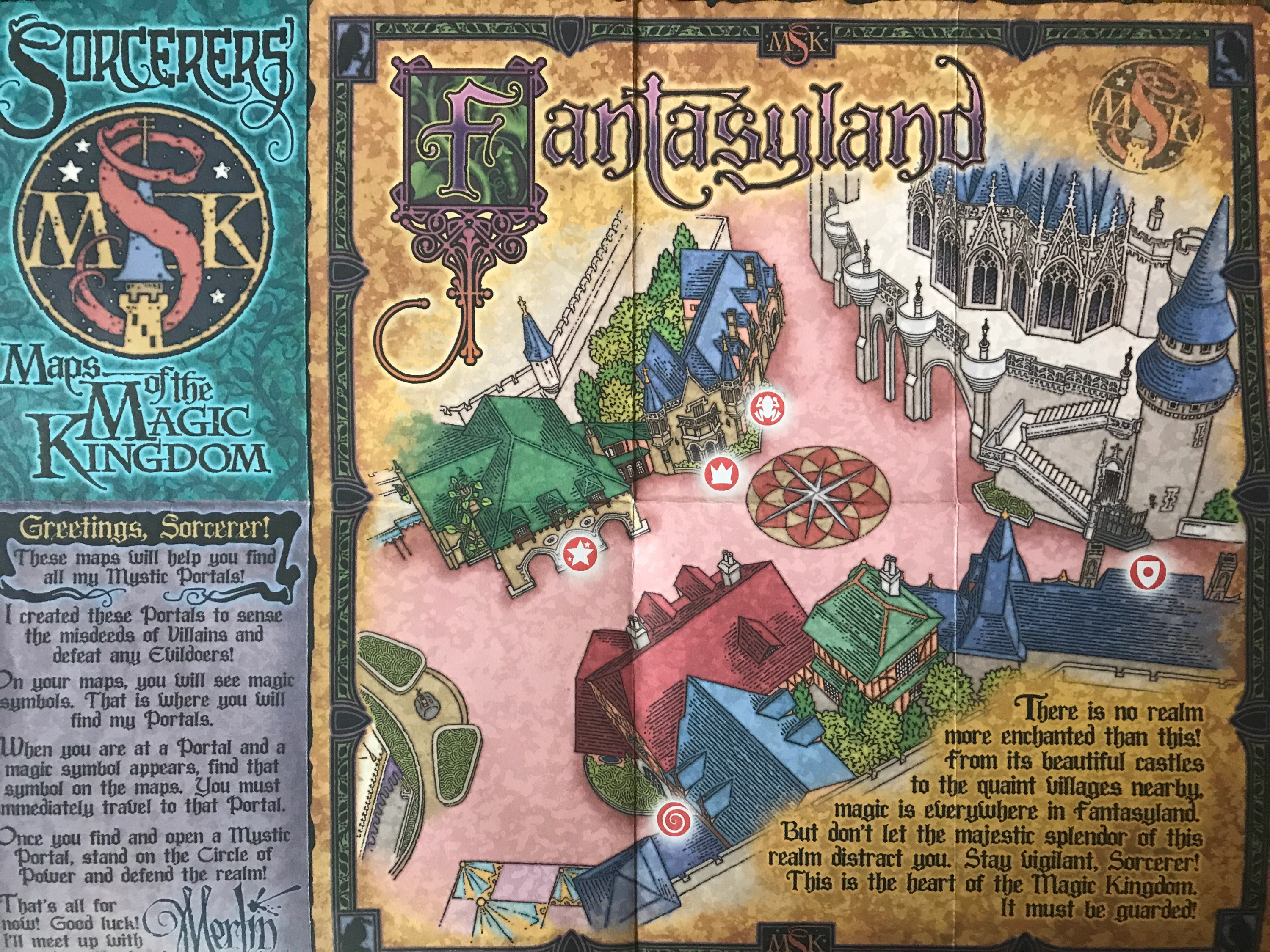 Fantasy Land Map in Sorcerers of the Magic Kingdom