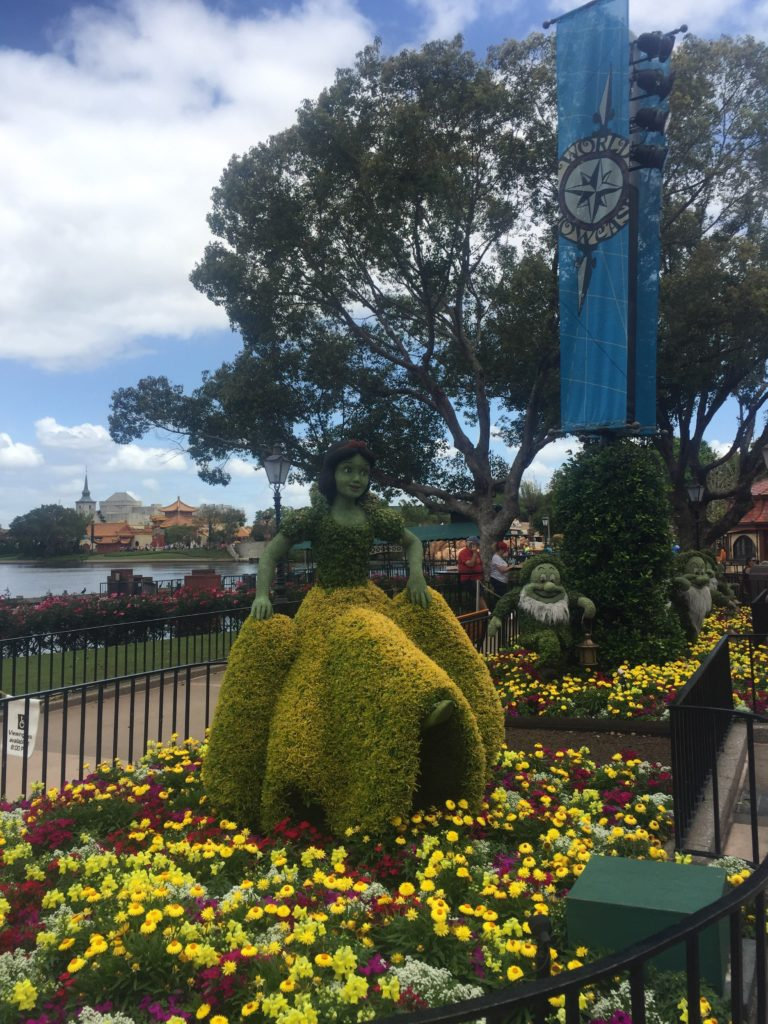 Snow White and the Seven Dwarves at epcot flower and garden festival