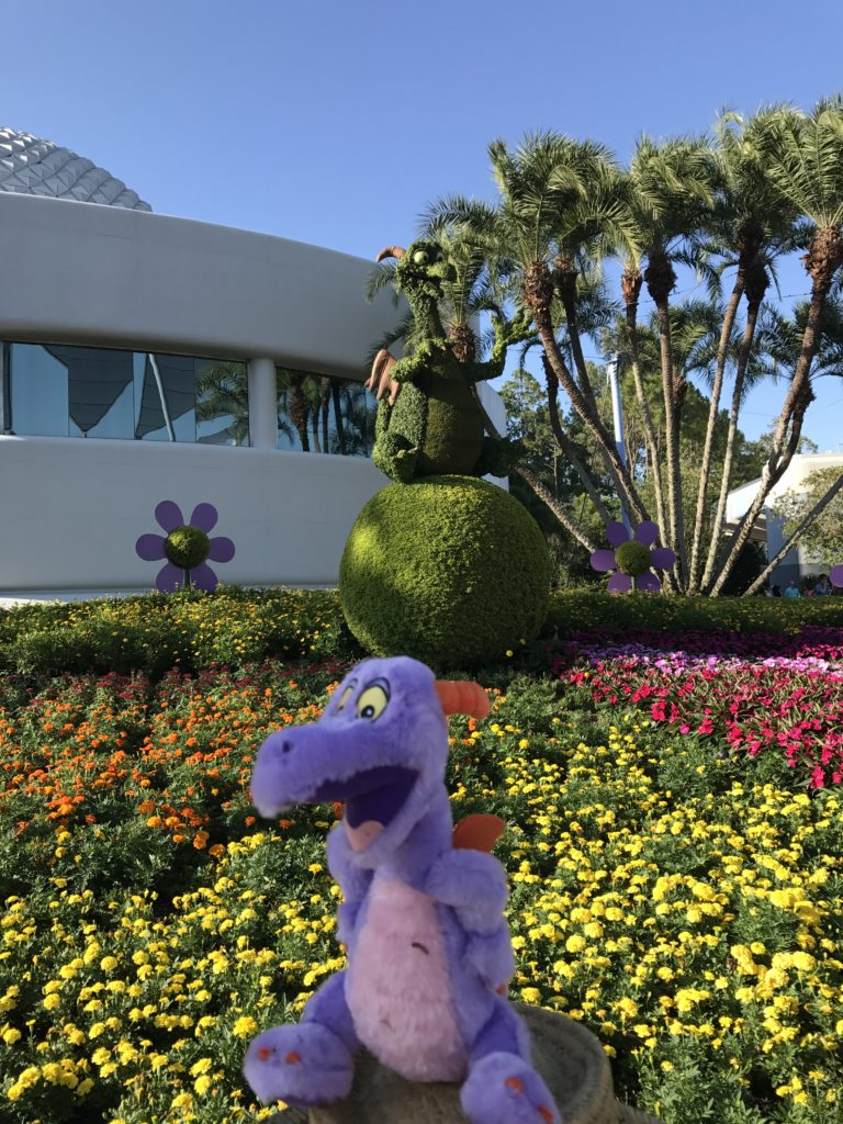 Figment at Epcot Flower and Garden Festival