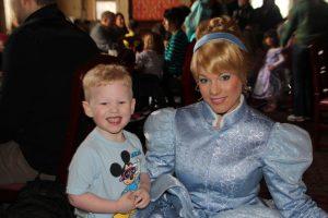 Photopass pic with Cinderella at Akershus Royal Banquet Hall