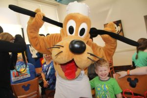 Pluto at Chef Mickey's